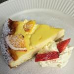 Home mad baked Lemon cheesecke