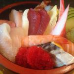 Miso soup, decor, Chirashi sushi