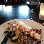 Steak, prawns and Cowichan Valley wine