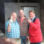 Anzac Day BBQ with our hosts