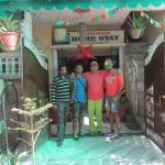 With my friend Renji, Kamal & Hari