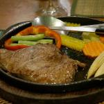 Sirloin and vegetables