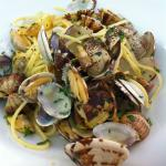 Delicious spaghetti with clams near Spanish Steps