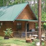 This is the cabin they rent with full utilities and TV, kitchen, loft with a double bed and a sl