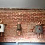 Creepy babies on the wall