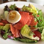 Close up of Salmon Salad