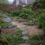 Lummig trädgård.