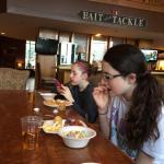 Girls having breakfast