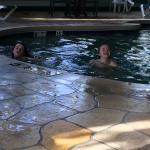 In pool...