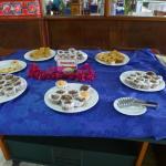 The dessert buffet for breakfast