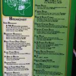 Breakfast and Lunch Menu