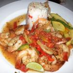 Shrimps in tomato sauce with rice (absolutely delicious)!