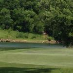 Looking over the river at the fifth hole.