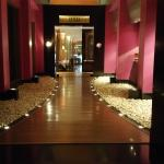 Entry way to Spices in the JW Marriott Mumbai
