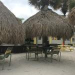 Tiki Huts at Rum Runners, very relazing, feet in the sand