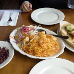 Pad Thai, Panang Curry Scallops and Brown Rice