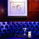Al Hirschfeld drawings decorate the Bar