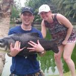 Monstor carp... even the missus enjoyed her 1st ever fishing trip