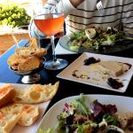 tapas and rose wine