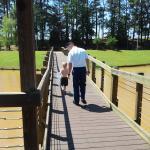 little board walk (muddy water due to heavy rain)