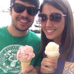Strawberry and coconut ice cream