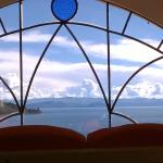 Vista desde la habitación al lago Titicaca
