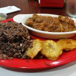 Ropa Vieja, Congri, and Fried Green Plantains