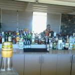 bar de la terrasse vue sur mer