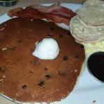 Tri-Fecta with blueberry pancake