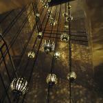 La iluminación de la escalera