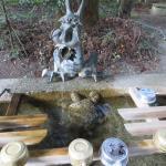 亀と龍の手水舎
