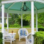 Gazebo amid the garden