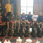 Giant chess with our hockey team