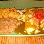 Chicken enchilada plate