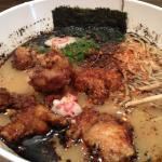 ramen with fried chicken