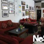 Our comfy sofa area