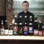 A large selection of Belgian beer