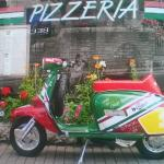 found this place on my lambretta so we had to eat here as it was Italian and the food was