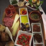Great for sharing - our mixed board of small bites