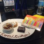 Birthday surprise from the executive lounge staff