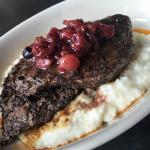 Venison & Blue Cheese Grits