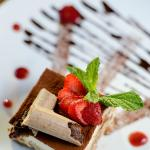 Tiramisu - Mascarpone mousse, coffee and marsala, savoiardi, dark chocolate sauce