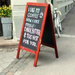 A sassy sign outside