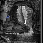 Futo Beach sea stack caves