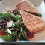 Veg sandwich with a side salad