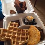 Texas-shaped waffle for breakfast!