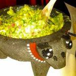 Guacamole prepared fresh tableside
