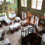 Dining Room of the Blue Boar.  There is also outdoor dining.