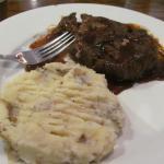 Chopped Steak with garlic mashed potatoes