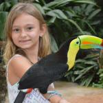 Our daughter Chloe holding a toucan!